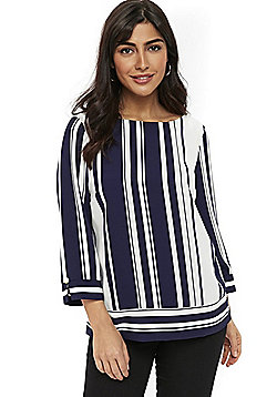 Wallis Stripe Top - Navy