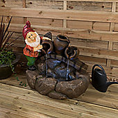 Christow LED Gnome Water Feature - Norman
