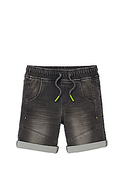 F&F Pull Up Denim Shorts - Grey wash