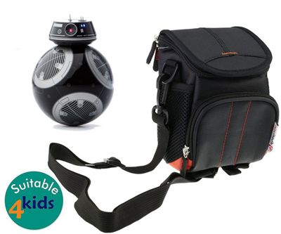 Navitech Black Case Bag Cover for the STAR WARS BB-9E app-enabled droid