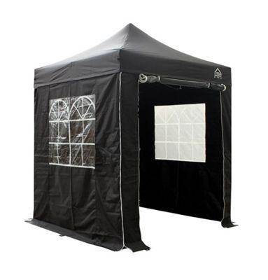 All Seasons Gazebos Heavy Duty, Fully Waterproof, 2m x 2m Superior Pop up Gazebo Package in Black