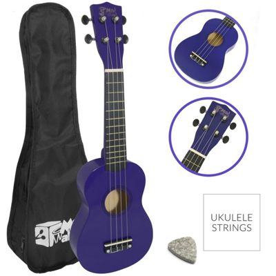 Soprano Ukulele in Purple with Uke Bag