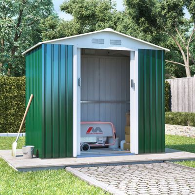 BillyOh Boxer Apex Metal Shed Garden Storage 7 x 4 Green