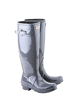 Hunter Womens Tall Gloss Wellies - Graphite