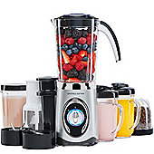 Andrew James Smoothie Maker with Drinking Cups in Silver