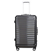 Tesco Chicago  8 Wheel Hard Shell Charcoal Medium Suitcase
