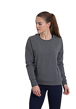 Zakti Womens Time For Tee Soft Sweatshirt w/ Antibacterial Fabrics & Relaxed Fit - Grey