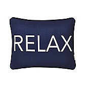 Bianca Cotton Soft Relax Cushion - Navy