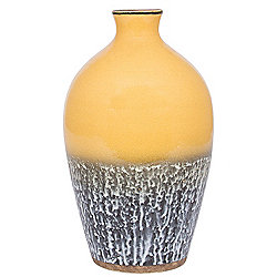 Mustard Ceramic Volcanic Effect Vase (300x180x180)