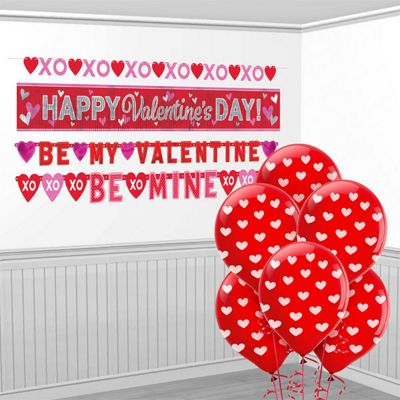 Valentine's Value Decorating Kit - Banners and Balloons