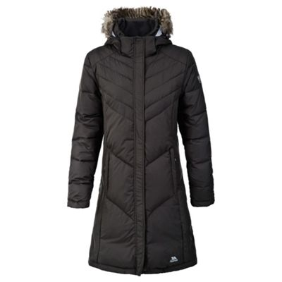 Trespass Ladies Sachs Long Coat Black M