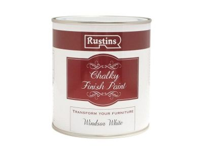 Rustins CHAPW250 250 ml Chalky Finish Paint Windsor - White