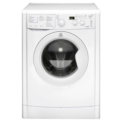 Indesit IWDD6105B Washer Dryer, 6kg Load, 1000 RPM Spin, B Energy Rating, White