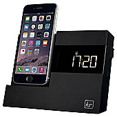 Kitsound X-Dock 3 Clock Radio and Dock - Black