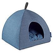 Ancol Sleepy Paws Pyramid Bed - Blue Denim