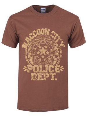 Raccoon City Police Dept. Brown Men's T-shirt