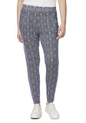 F&F Tile Print Trousers Multi 18