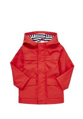 F&F Hooded Mac Red 3-4 years