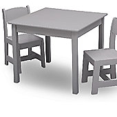 Delta Children Grey Table and Chairs Set
