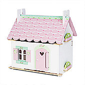 Le Toy Van Traditional Wooden Dolls House - Lilys Cottage (with furniture)