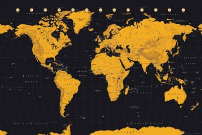 Buy world map gold world map poster from our posters range tesco world map gold world map poster gumiabroncs Choice Image