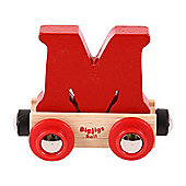 Bigjigs Rail Rail Name Letter M (Dark Red)