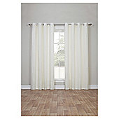 Canvas Lined Eyelet Curtains - Ivory