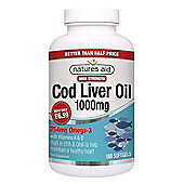Natures Aid 1000mg High Strength Cod Liver Oil - 180 Capsules