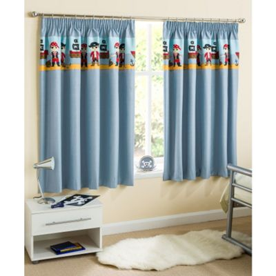 Enhanced Living Pirate Blue Thermal Blockout Curtains - 66x90 Inches (168x229cm)