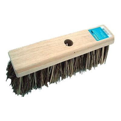 Elliott Extra Stiff Wooden Broom Head, Heavy Cleaning