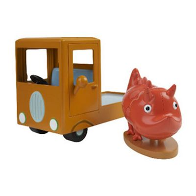 Peppa Pig Vehicle with Figure - Museum Truck with Dinosaur