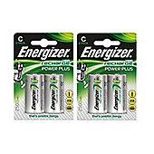 4 x Energizer ACCU Rechargeable C Cell NiMh Batteries (2500mAh)