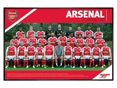 Arsenal FC Gloss Black Framed Team 16/17 Poster 61x91.5cm