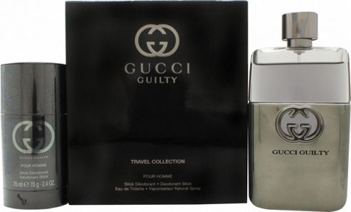 Gucci Guilty Pour Homme Gift Set 90ml EDT + 75ml Deodorant Stick For Men