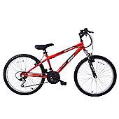 "Arden Mountaineer 24"" Wheel Front Suspension MTB Bike Red"