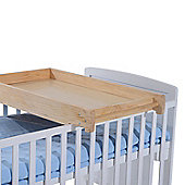 Homcom Wooden Cot Top Changer Baby Station 87Lx50Wx10H(cm) (Natural Wood)