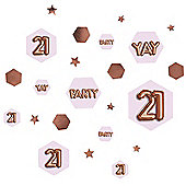 Glitz & Glamour 21st Birthday Confetti