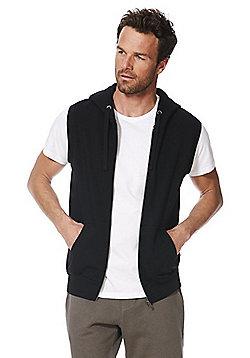 F&F Sleeveless Zip-Through Hoodie - Black