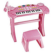 Carousel Keyboard And Stool Pink