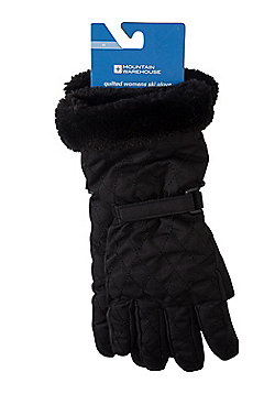 Mountain Warehouse Quilted Womens Ski Gloves - Black