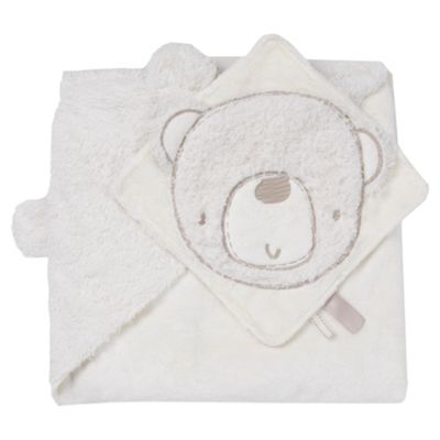 Silver Cloud Teddy Hooded Robe & Comforter