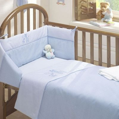 Time to Sleep 3 Piece Cot Bale - Quilt, Bumper and Fitted Sheet