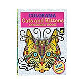 JML Colorama Colouring Books For Adult with Cats Designs PLUS Six Pencils