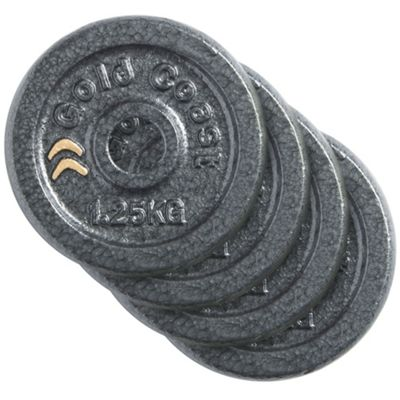 Gold Coast 4 x 1.25kg Cast Iron Weight Plates