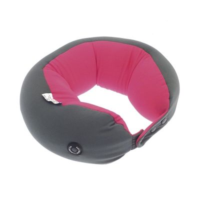 Country Club Vibrating Travel Pillow, Pink