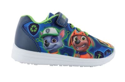 Boys Paw Patrol Blue Low Top Canvas Trainers Sports Shoes UK Size 5