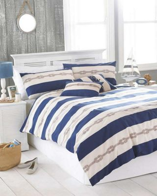 Reef duvet cover and pillowcase set - blue - super king