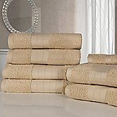 Dreamscene Luxury Egyptian Cotton 7 Piece Bathroom Towel Set - Natural