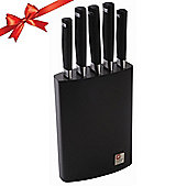 Amefa Richardson Sheffield Laser Soft Touch 5 Piece Knife Block Set LT450