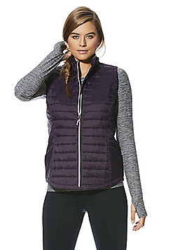 F&F Active Quilted Gilet - Purple